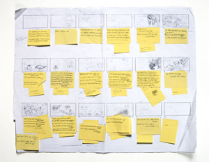Storyboard for Fox Walked Alone
