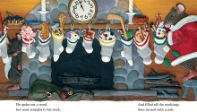 "Book illustration, ""The Night Before Christmas"", client: Scholastic Canada.  © Barbara Reid"