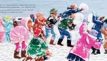 """Book illustration, """"Perfect Snow"""", client: Scholastic Canada.  © Barbara Reid"""