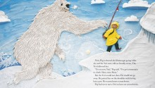 "Book illustration, ""Peg and the Yeti"", client: HarperCollins Canada © Barbara Reid"
