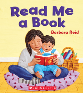 "Book illustration, ""Read Me A Book"", client: Scholastic Canada. © Barbara Reid"