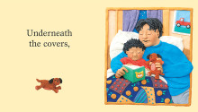 "Book illustration, ""Read Me A Book"", client: Scholastic Canada.  © Barbara Reid"