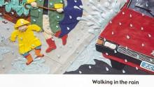 "Book illustration, ""Zoe's Rainy Day"", client: Scholastic Canada.  © Barbara Reid"