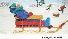 "Book illustration, ""Zoe's Snowy Day"", client: Scholastic Canada.  © Barbara Reid"